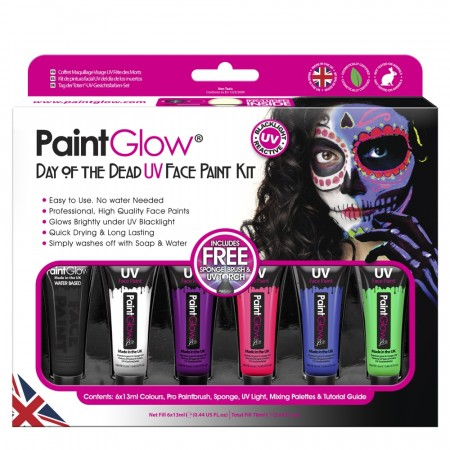 UV Neon Day of the Dead Paint Kit
